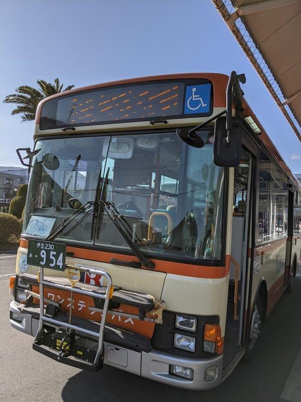 修善寺行きのバス