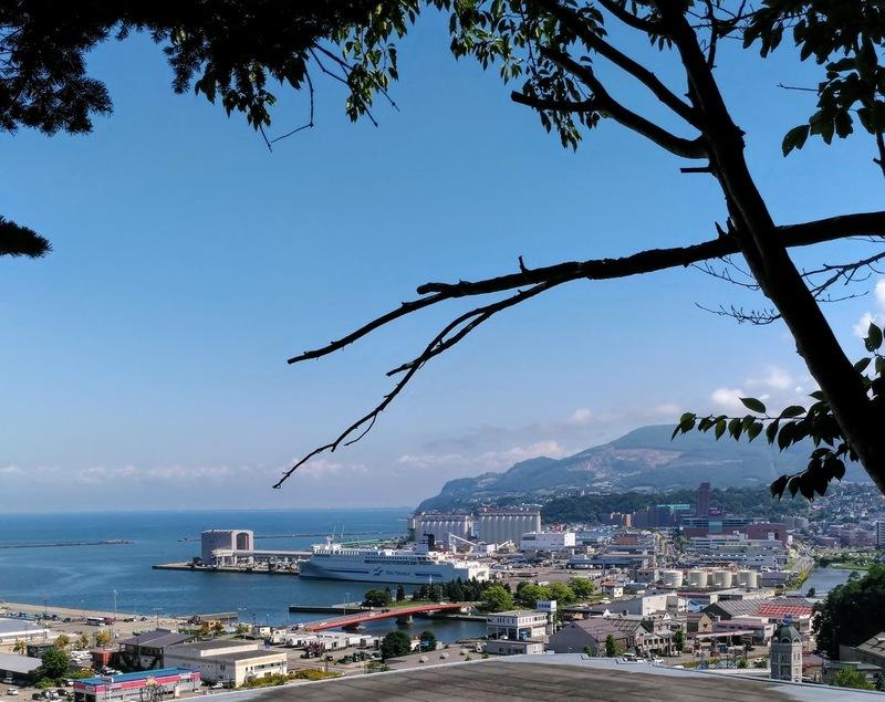 小樽水天宮の境内からの景色