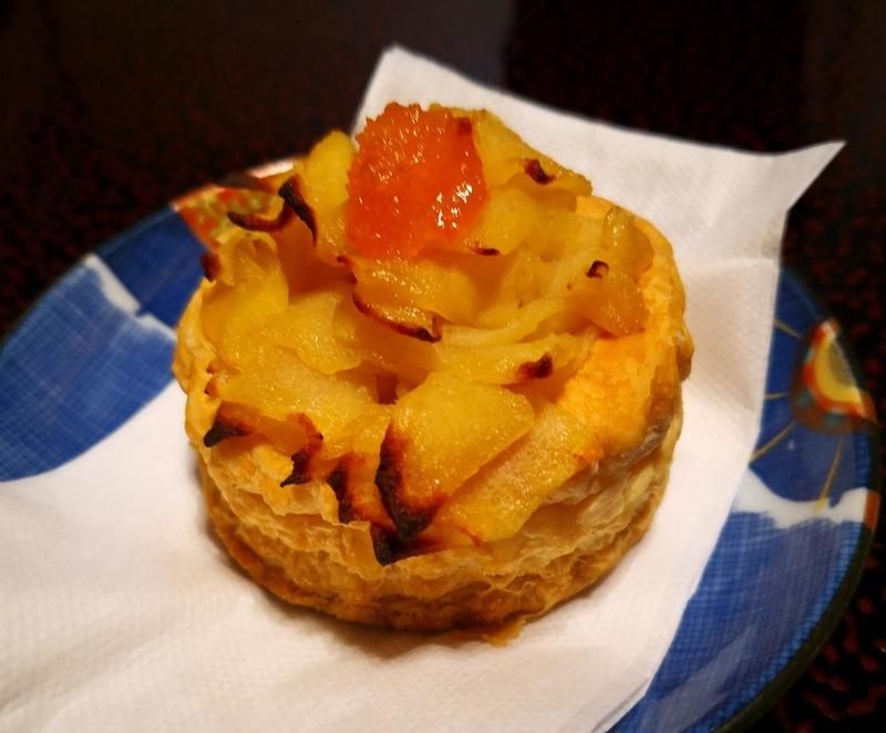 デザートのアップルパイ