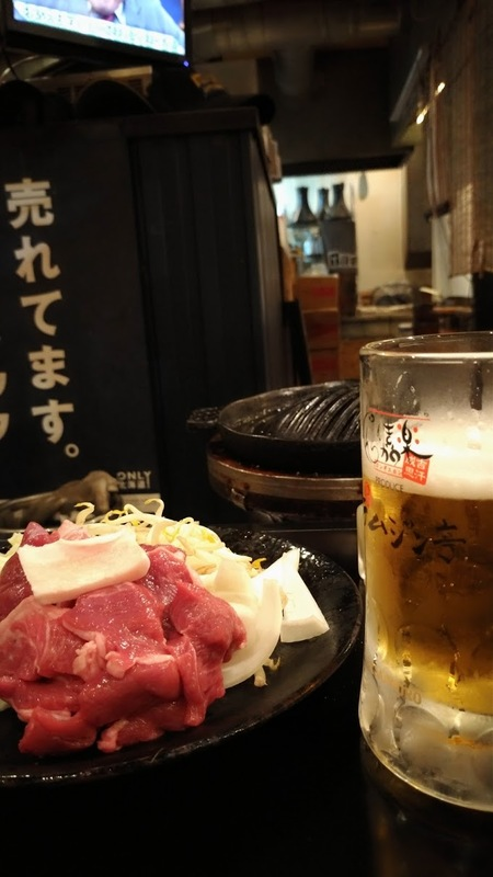 生ラムとビール