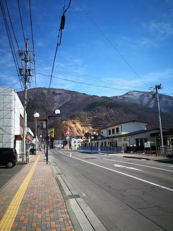 戸倉駅からの道